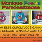 Cupom monique festas