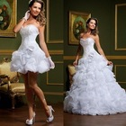 Brotherfun vestido de noiva princesa vestido 2 em 1 de casamento branco vestidos com saia remov%c3%advel.jpg 350x350