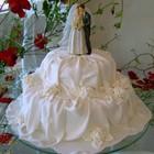 Tecido no bolo
