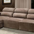 sofa 3 lugares retratil e reclinavel fasano