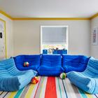 Playroom ligne roset togo fireside chairs large magnetic board