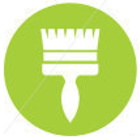 Paintbrush vector icon