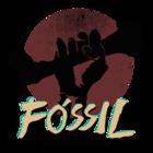 Logo fossil quadrada escrita amarela