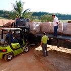 Tijolo ecologico transporte empilhadeira 2