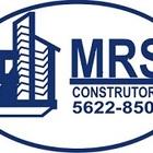 Mrs construtora azul e branco