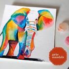 Elefante mil cores