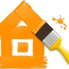 Casa pintada com pincel