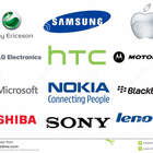 Mobile phone brands logos collection world famous brand sony ericsson samsung apple lg electronics htc motorola microsoft nokia 55282987