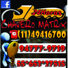 Chaveiro Matrix 24hrs