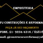 Pj Construções e Reformas e...