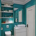 25 banheiro pequeno colorido