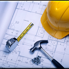 Construction plans and hat