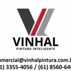 Logo vinhal pintura com telefone