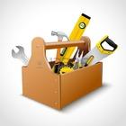 27942189 decorativa de madeira conceito toolbox emblema cartaz realista com serra martelo chave inglesa e n%c3%ad