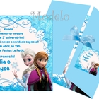 Convite frozen princesas