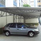 Foto de uma estrutura met%c3%81lica para garage