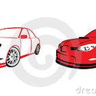 Carro de esportes vermelho logotipo 24210225