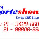 Logo corteshow com telefone menor