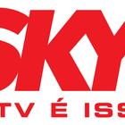 Logo sky vermelho alta